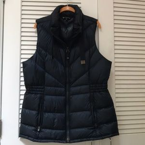 Athleta Navy Down Vest XL